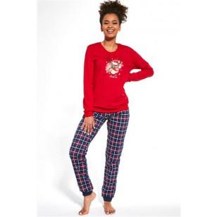 Pižama Reindeer 671/261 Granatowo-Czerwona Merry Christmas