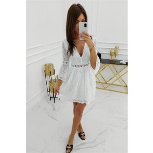 Suknelė Elisa Lace DX6223-53 White