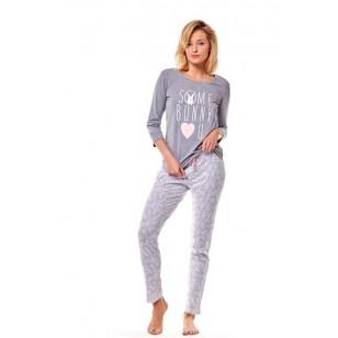 Pižama Mia 36163-90X Szara