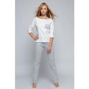 Pižama  Little Star White-Grey
