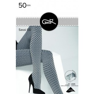 Pėdkelnės Sassi 05 Gatta 50 DEN Bianco-Nero
