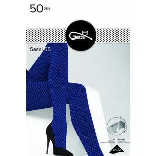 Pėdkelnės Sassi 05 Gatta 50 DEN Blue-Nero