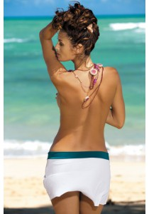 Paplūdimio sijonėlis Meg Bianco-Turquoise