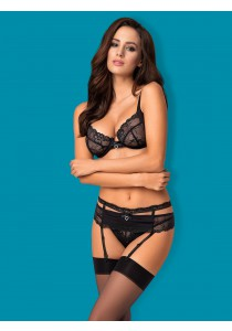 Seksualus komplektas Heartina set black 3 pcs