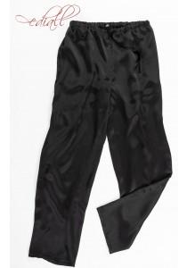 Natūralaus šilko kelnės LORCAN, juodos spalvos