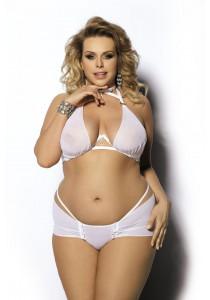 Seksualus komplektas  Oretha Size plus White