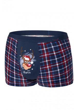 Apatiniai Reindeer 007/57 Granatowe Merry Christmas
