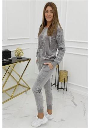 Veliūrinis sportinis kostiumas 5th Avenue Grey WJ8798