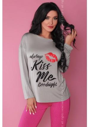 Pižama Sweet Kiss Grey-Pink