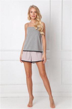 Pižama Adelide Short Dark Grey