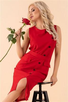Suknelė Eqalisa Wine Red